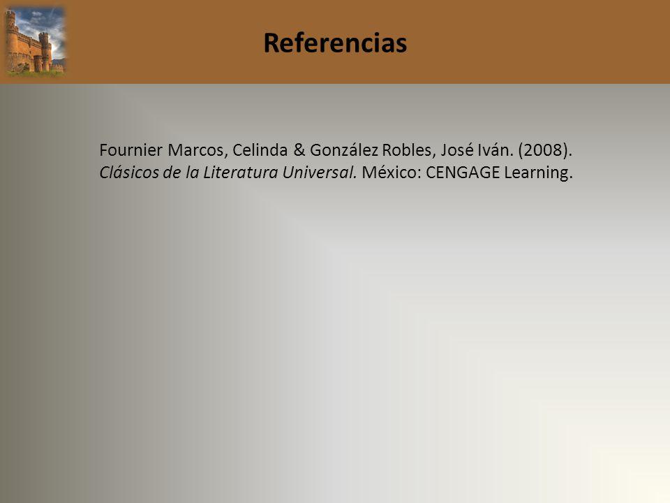 ReferenciasFournier Marcos, Celinda & González Robles, José Iván.