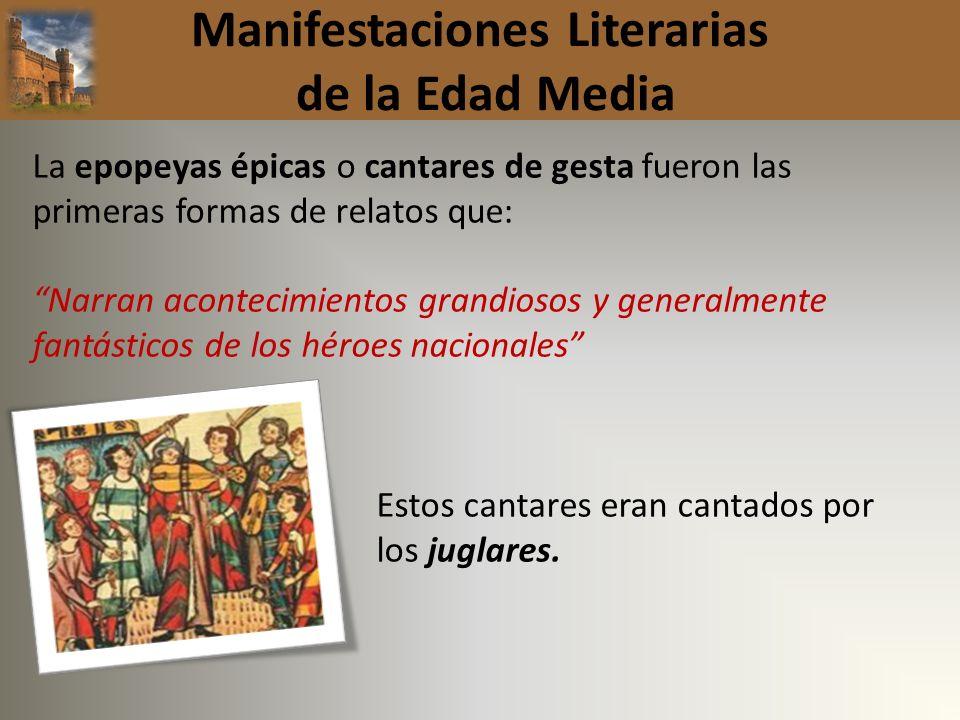 Manifestaciones Literarias de la Edad Media