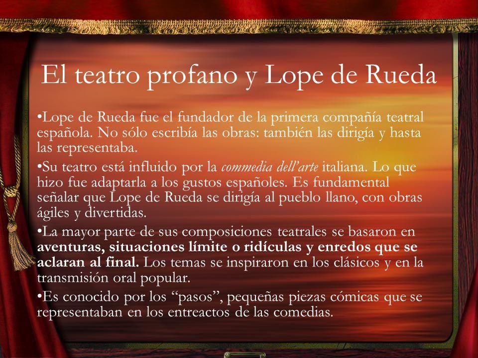 El teatro profano y Lope de Rueda