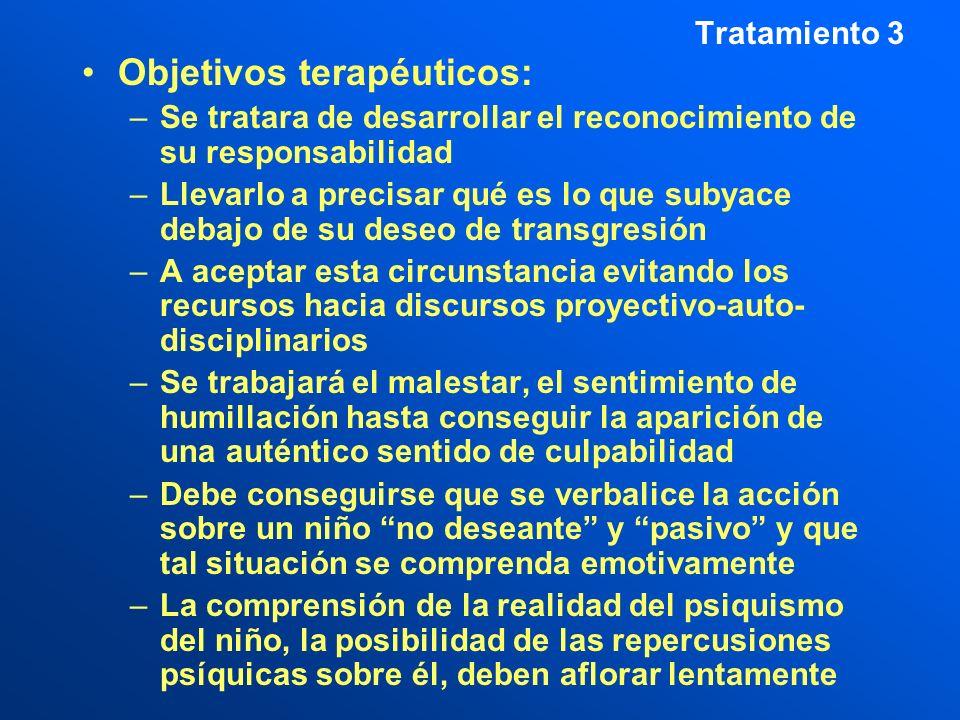 Objetivos terapéuticos: