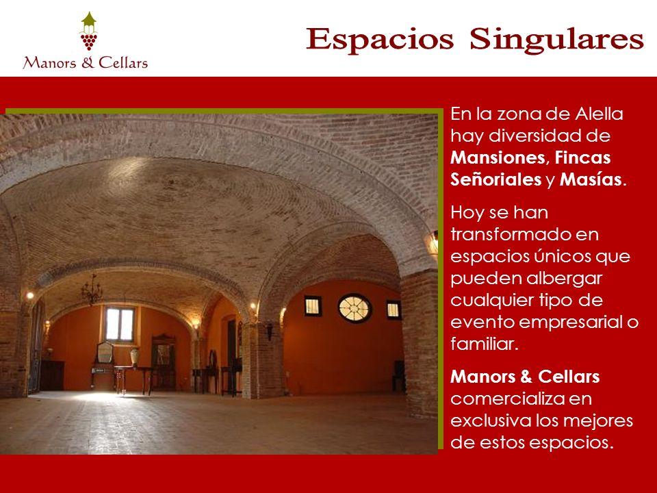 Espacios Singulares En la zona de Alella hay diversidad de Mansiones, Fincas Señoriales y Masías.