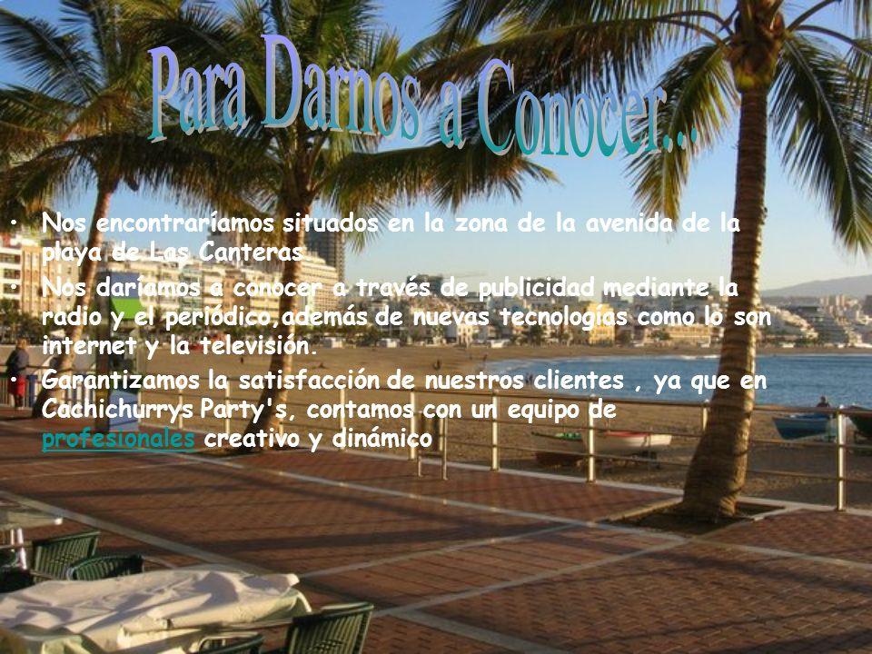 Para Darnos a Conocer... Nos encontraríamos situados en la zona de la avenida de la playa de Las Canteras.