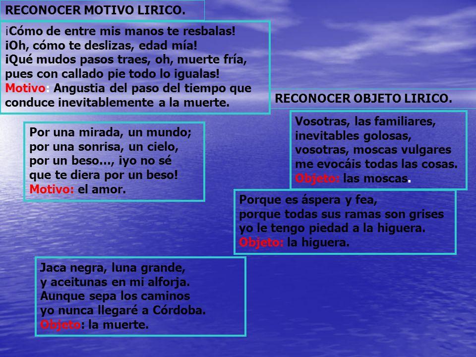 RECONOCER MOTIVO LIRICO.