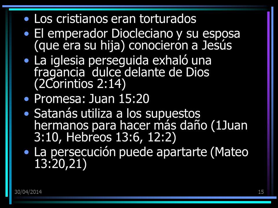 Los cristianos eran torturados