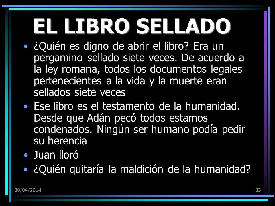 EL LIBRO SELLADO