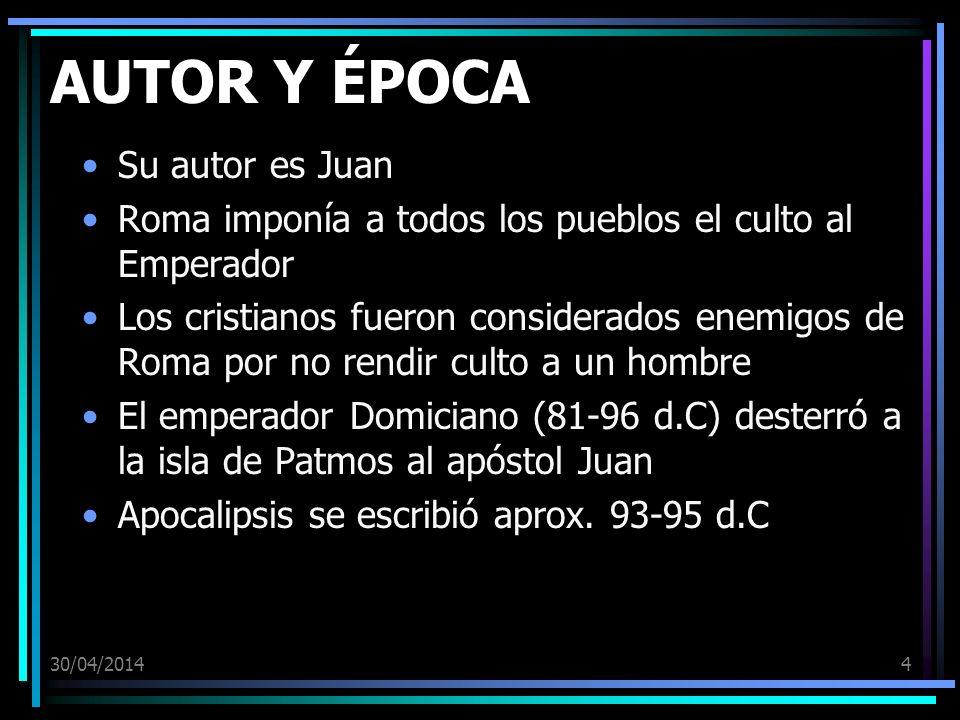 AUTOR Y ÉPOCA Su autor es Juan