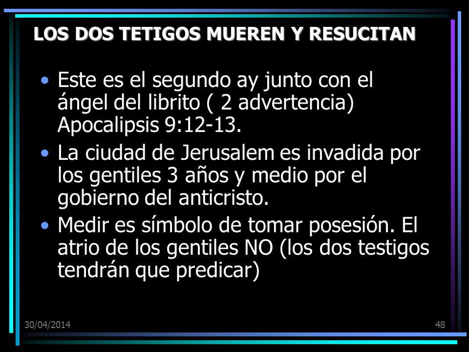 LOS DOS TETIGOS MUEREN Y RESUCITAN