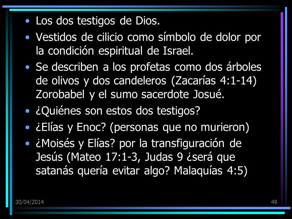 Los dos testigos de Dios.