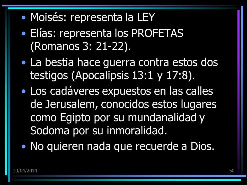 Moisés: representa la LEY