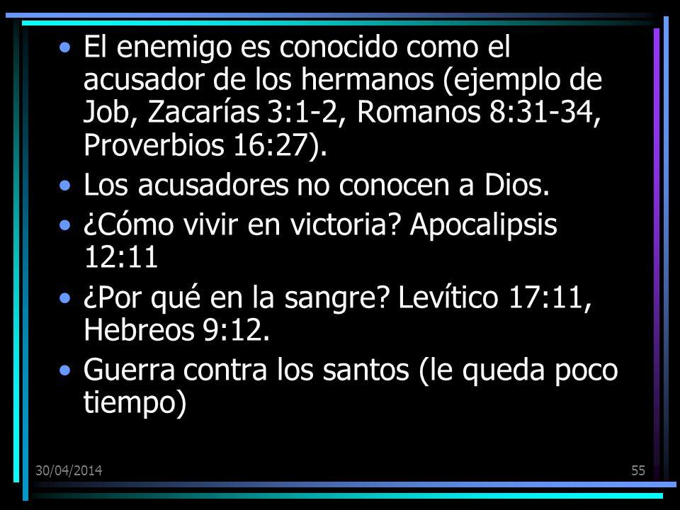 Los acusadores no conocen a Dios.