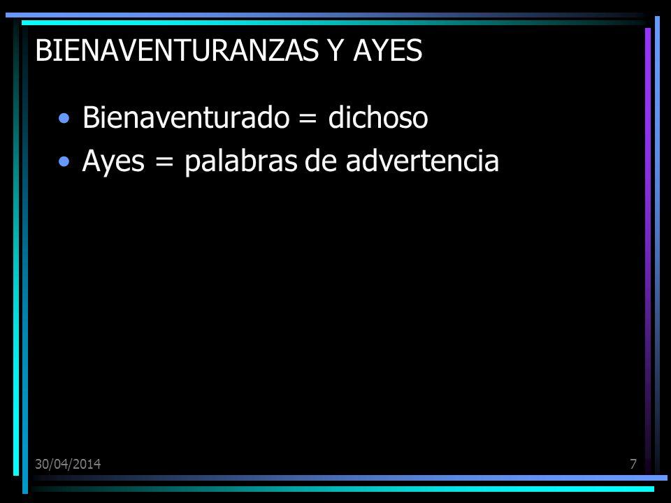 BIENAVENTURANZAS Y AYES