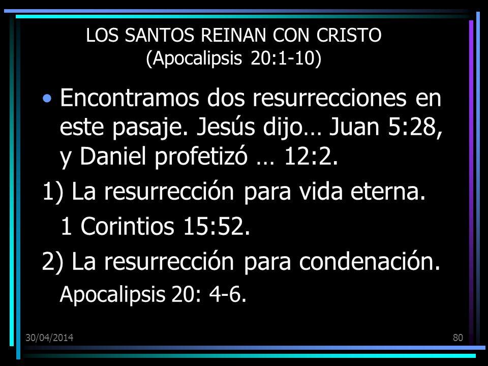 LOS SANTOS REINAN CON CRISTO (Apocalipsis 20:1-10)