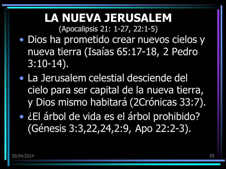 LA NUEVA JERUSALEM (Apocalipsis 21: 1-27, 22:1-5)