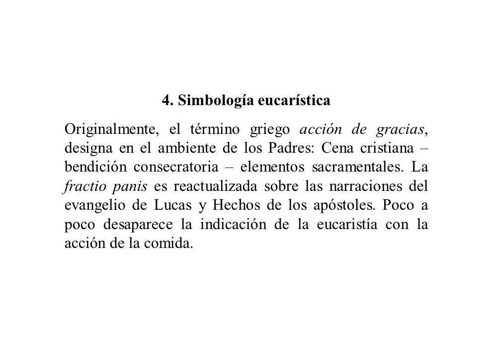 4. Simbología eucarística