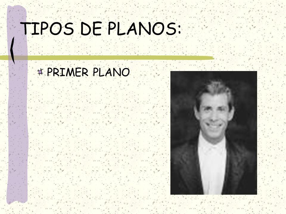 TIPOS DE PLANOS: PRIMER PLANO