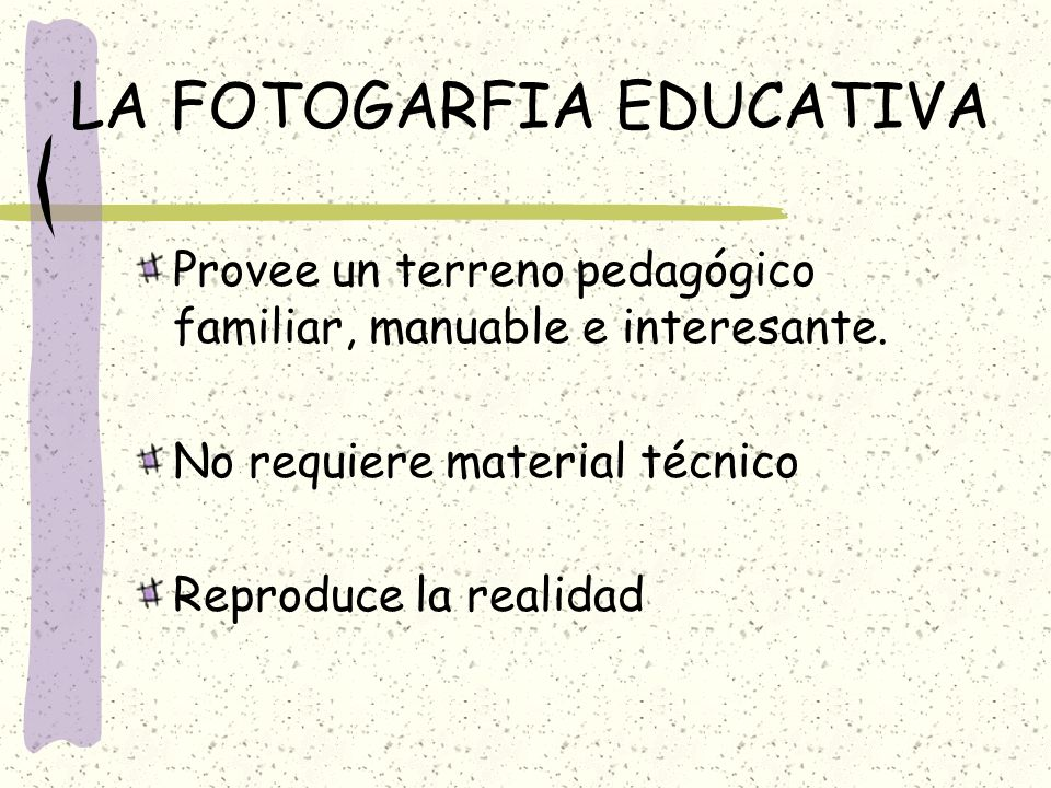 LA FOTOGARFIA EDUCATIVA
