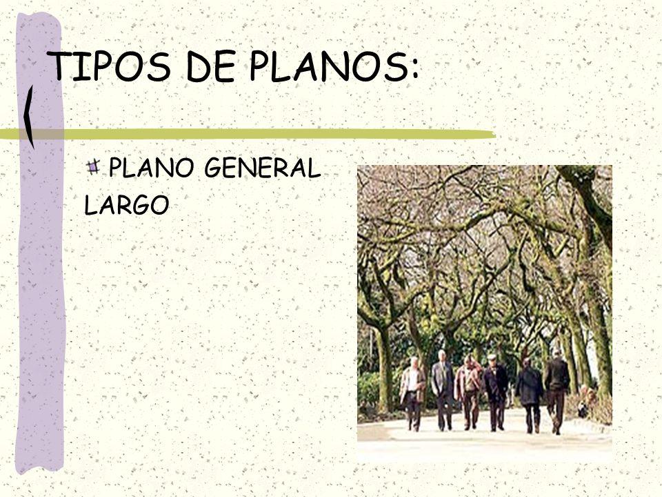 TIPOS DE PLANOS: PLANO GENERAL LARGO