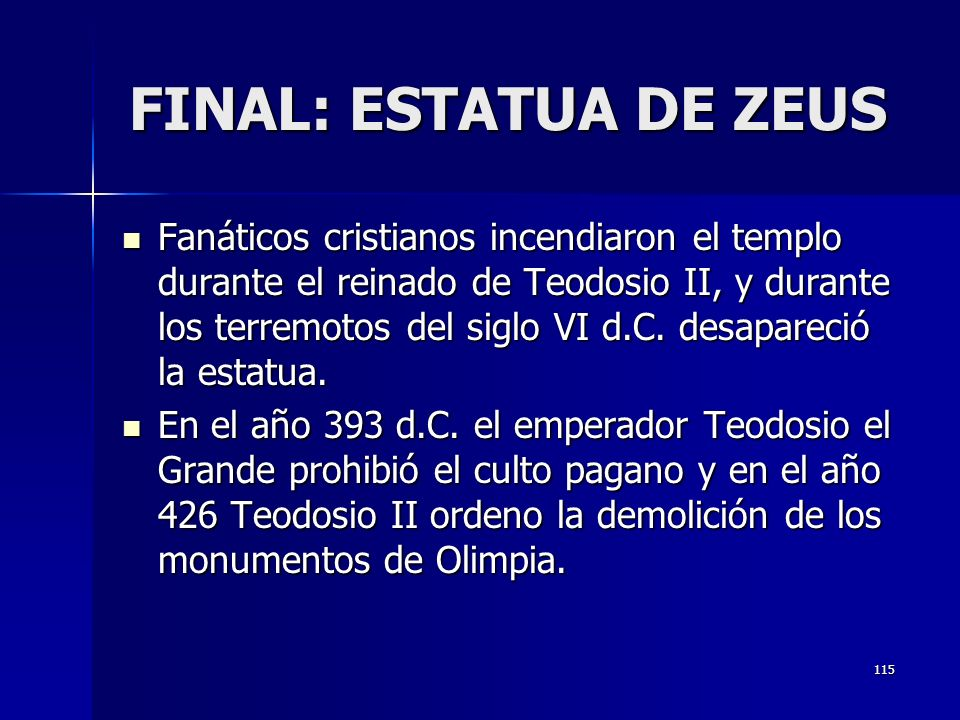 FINAL: ESTATUA DE ZEUS