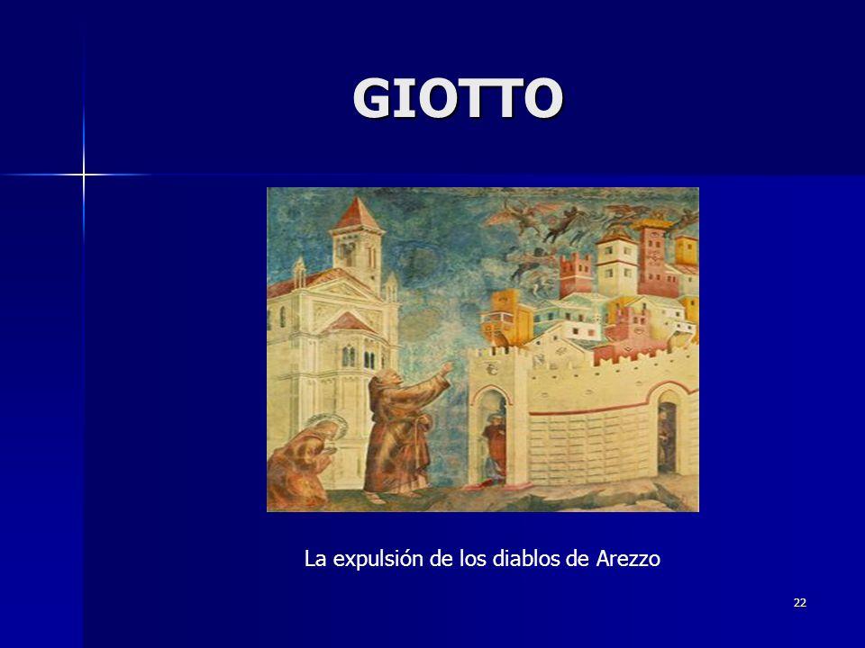 GIOTTO La expulsión de los diablos de Arezzo