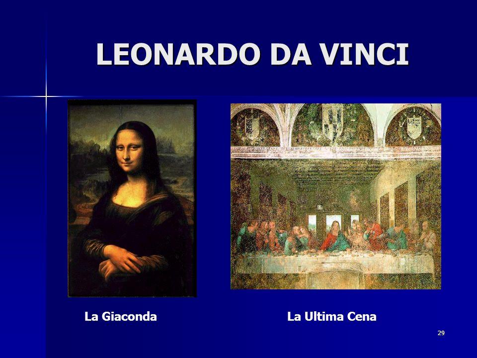 LEONARDO DA VINCI La Giaconda La Ultima Cena