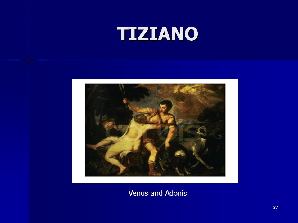 TIZIANO Venus and Adonis