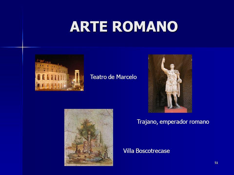 ARTE ROMANO Teatro de Marcelo Trajano, emperador romano