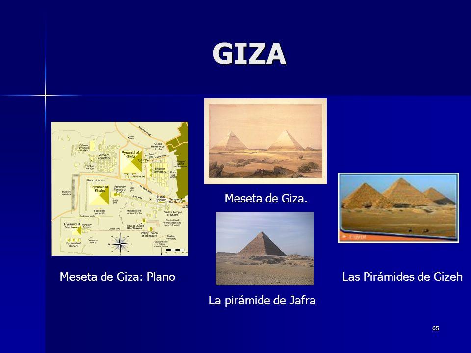 GIZA Meseta de Giza. Meseta de Giza: Plano Las Pirámides de Gizeh