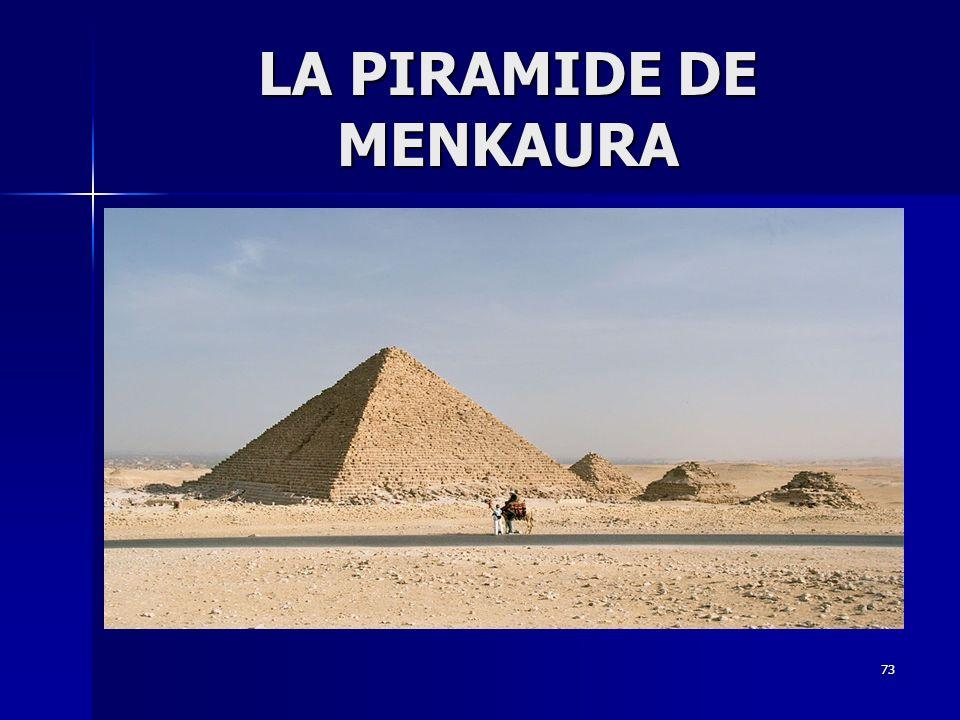 LA PIRAMIDE DE MENKAURA