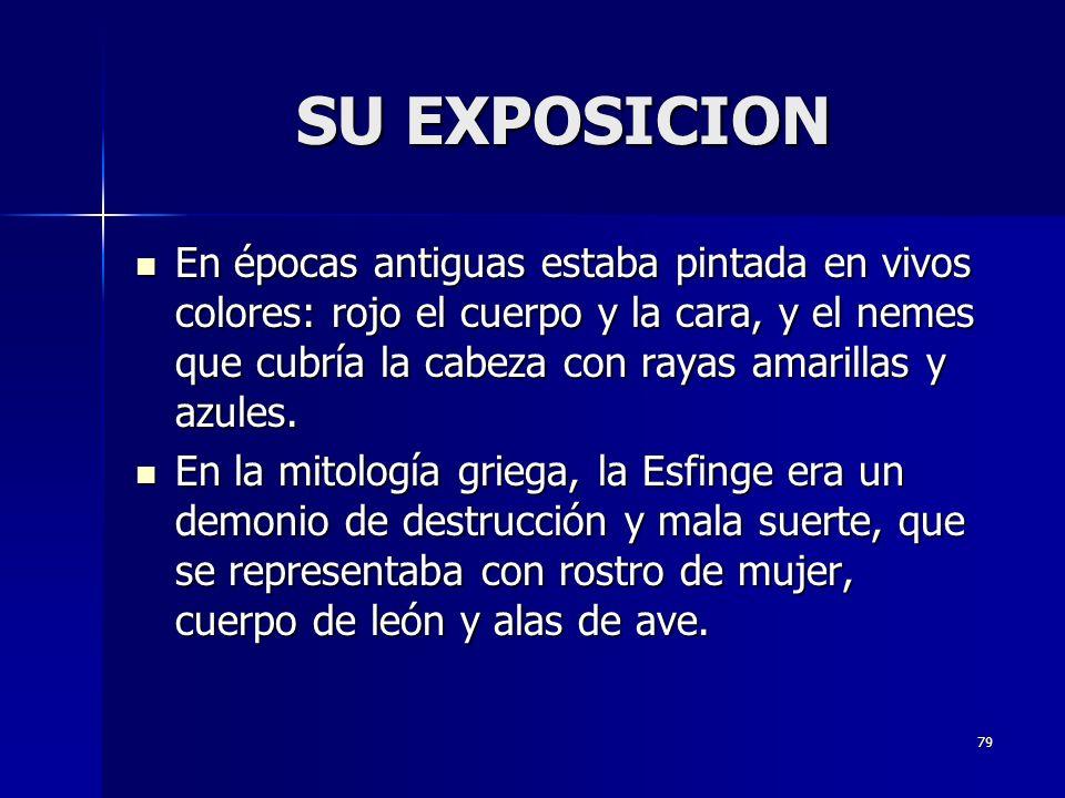 SU EXPOSICION