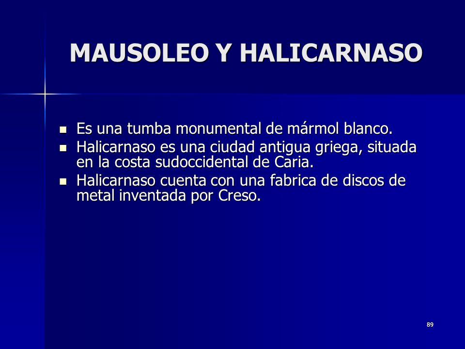 MAUSOLEO Y HALICARNASO