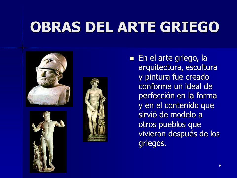 OBRAS DEL ARTE GRIEGO