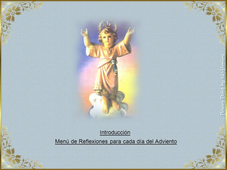 Introducción Menú de Reflexiones para cada día del Adviento