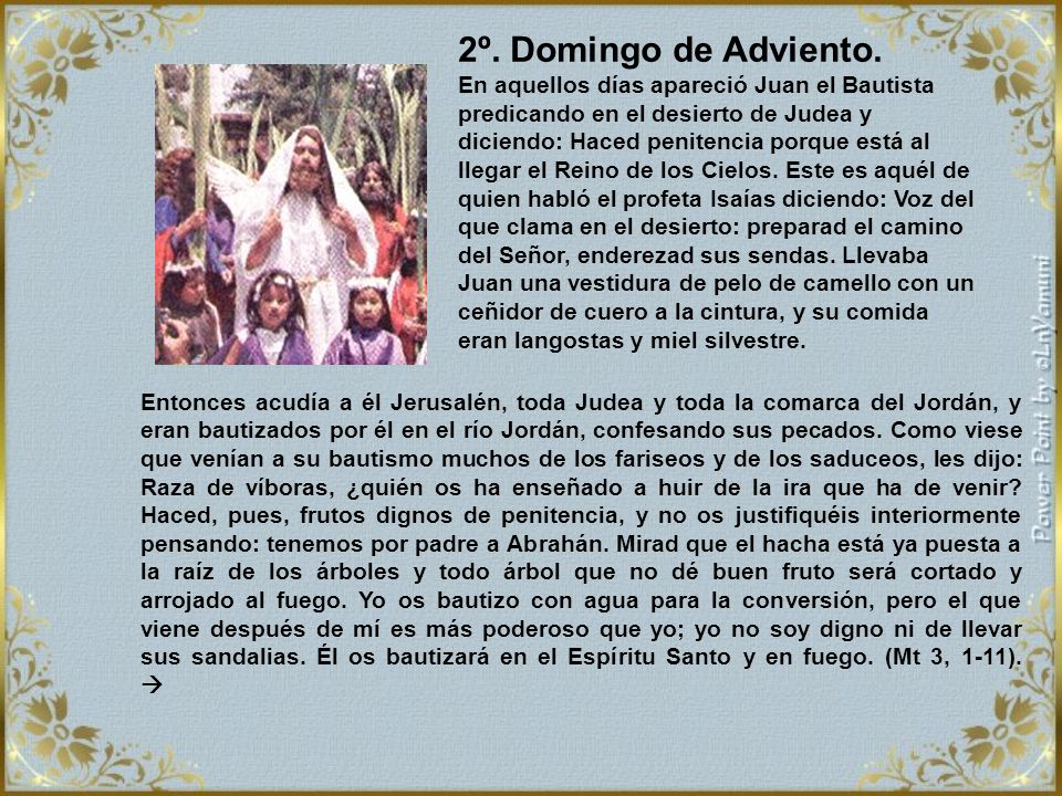 2º. Domingo de Adviento.