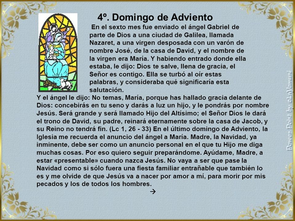 4º. Domingo de Adviento
