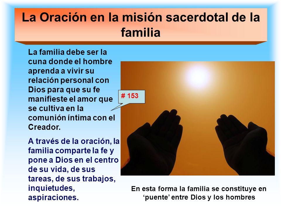La Oración en la misión sacerdotal de la familia