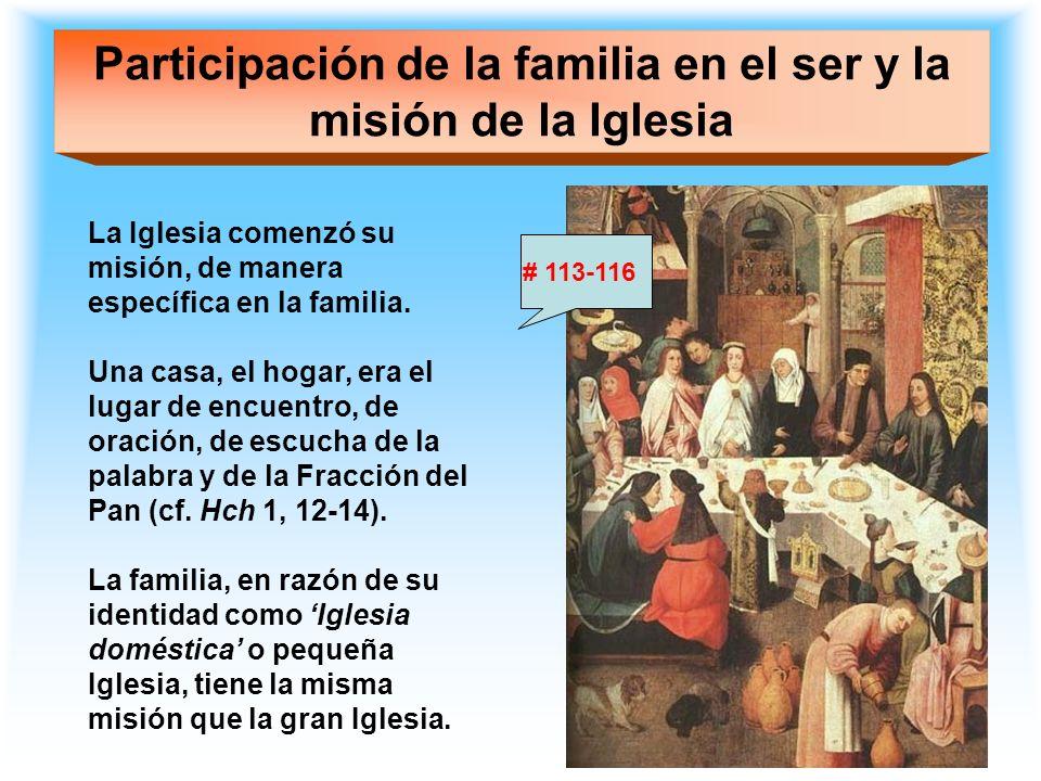 Participación de la familia en el ser y la misión de la Iglesia