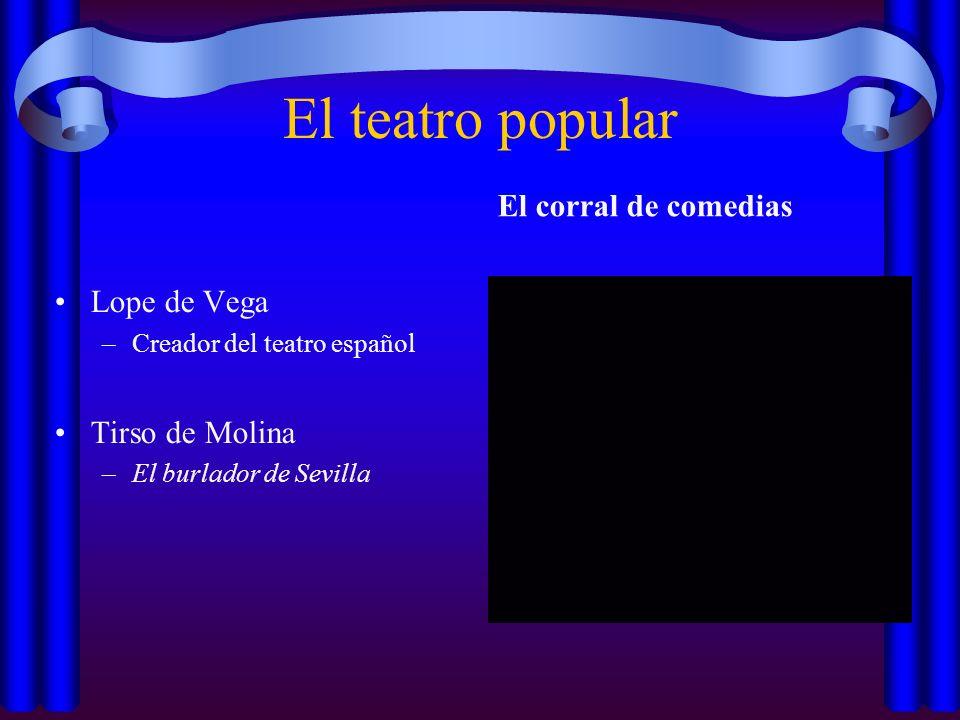 El teatro popular El corral de comedias Lope de Vega Tirso de Molina