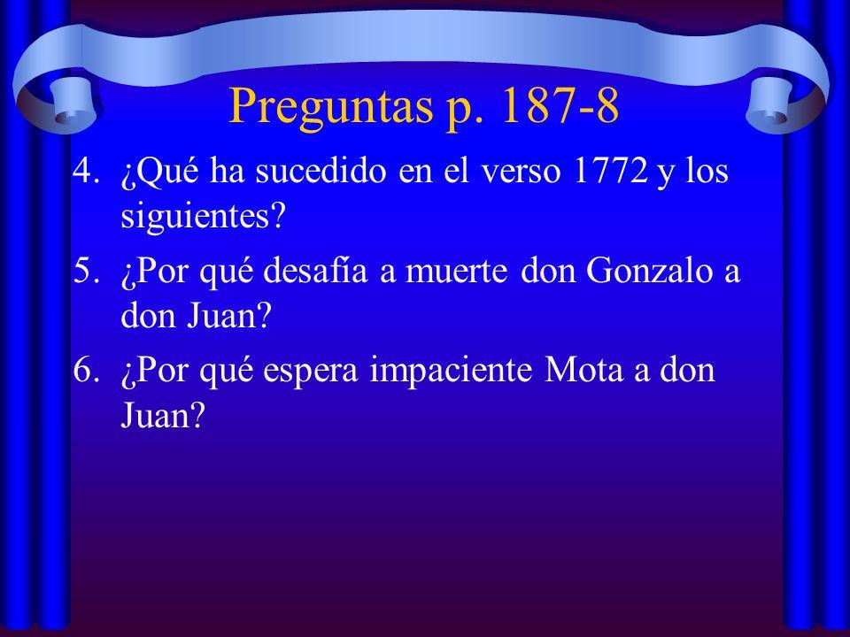 Preguntas p. 187-8 ¿Qué ha sucedido en el verso 1772 y los siguientes