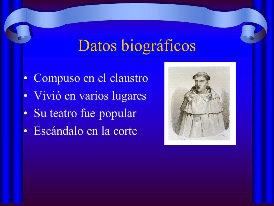 Datos biográficos Compuso en el claustro Vivió en varios lugares