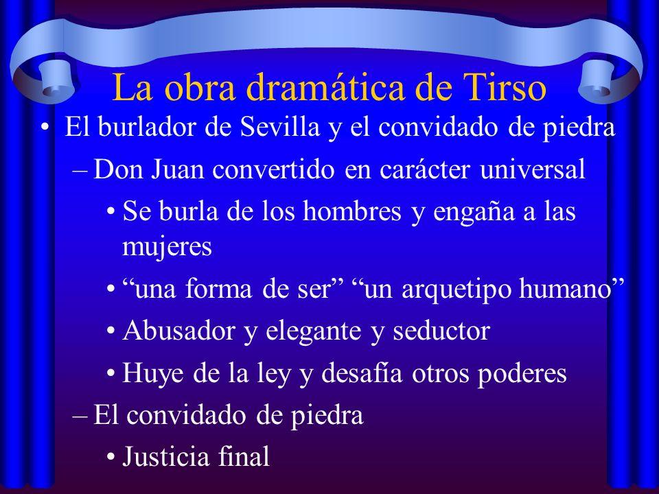 La obra dramática de Tirso