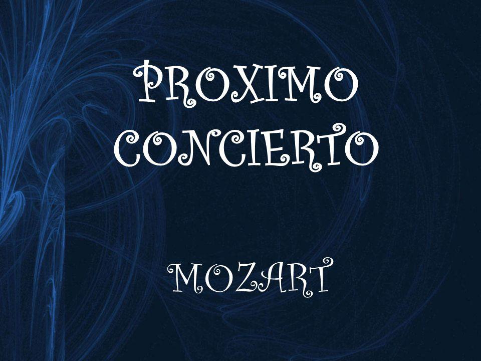 PROXIMO CONCIERTO MOZART