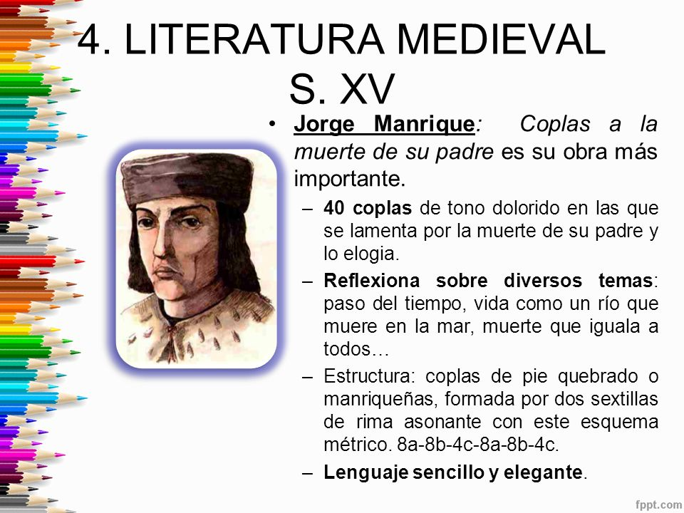 4. LITERATURA MEDIEVAL S. XV