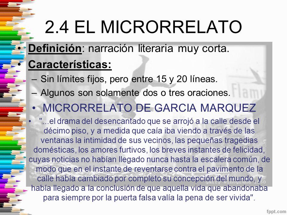 MICRORRELATO DE GARCIA MARQUEZ