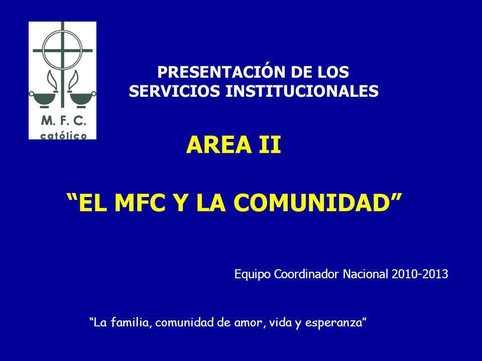 AREA II EL MFC Y LA COMUNIDAD