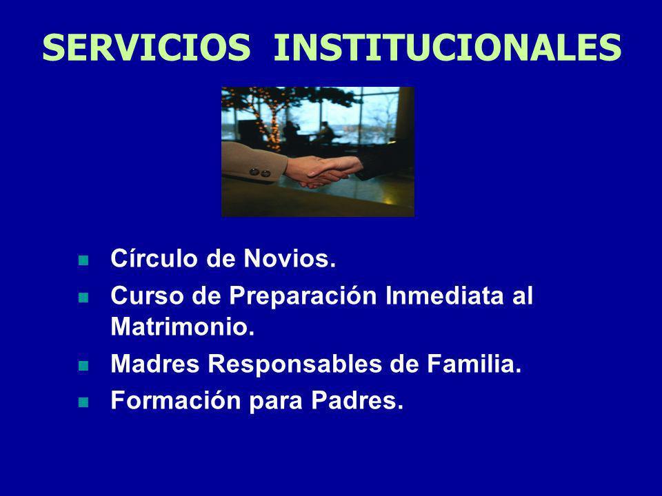 SERVICIOS INSTITUCIONALES