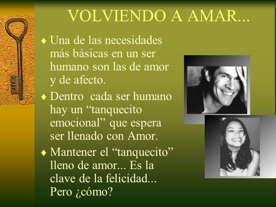 VOLVIENDO A AMAR... Una de las necesidades más básicas en un ser humano son las de amor y de afecto.