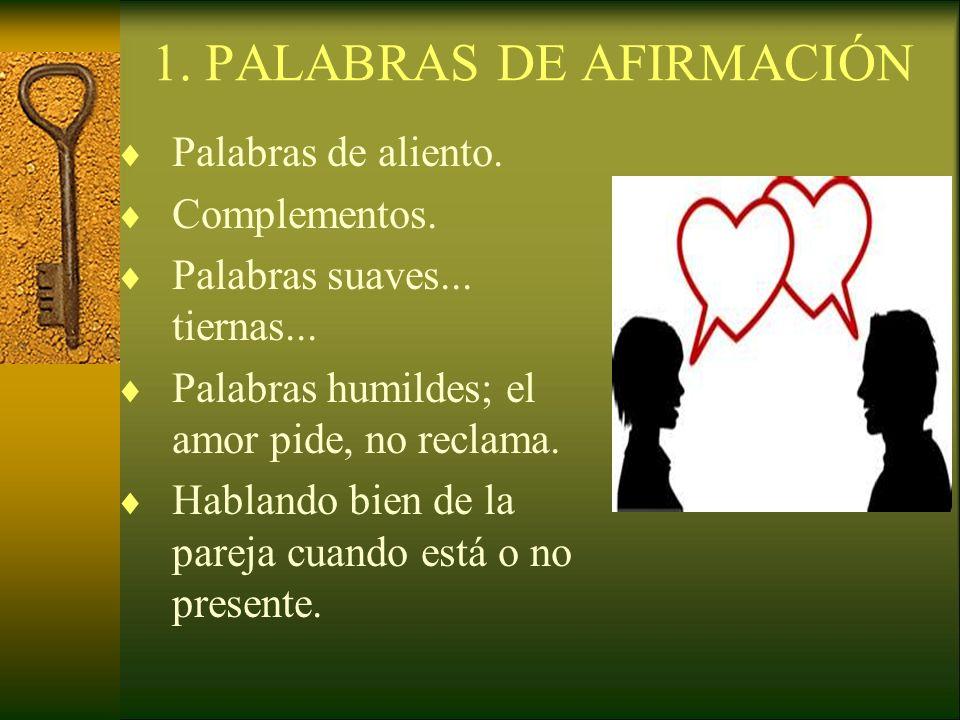 1. PALABRAS DE AFIRMACIÓN
