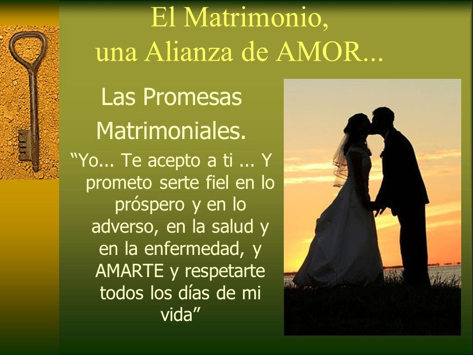 El Matrimonio, una Alianza de AMOR...