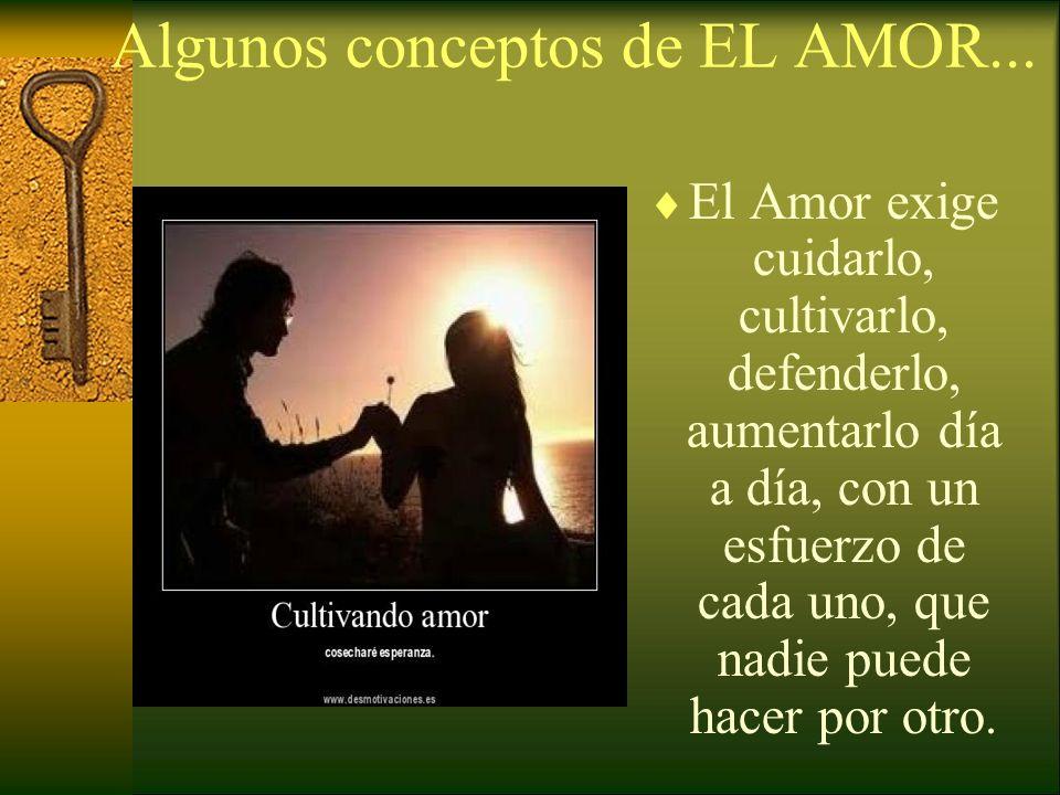 Algunos conceptos de EL AMOR...