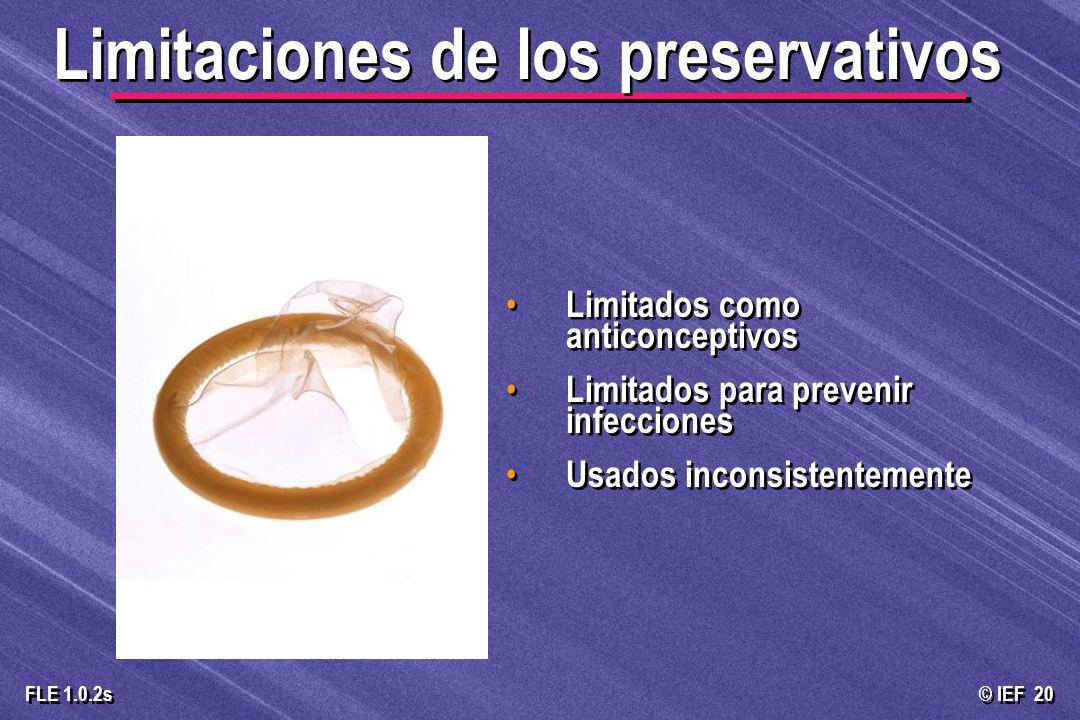 Limitaciones de los preservativos
